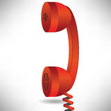 Red handset Royalty Free Stock Images