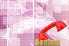 Red handset. 3d Illustration Stock Photography