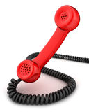 Red handset Stock Image