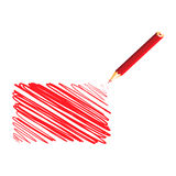 Red handwritten rectangle Stock Photos