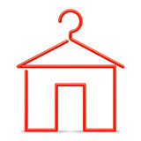 Red hanger. Royalty Free Stock Images
