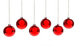 Red Hanging Baubles Stock Photos