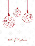 Red hanging decorations Royalty Free Stock Photography