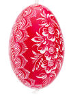 Red hanging hand painted easter egg Stock Photo