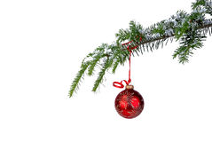 Red hanging ornament Stock Image