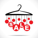 Red hanging sale text Royalty Free Stock Photos
