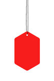 Red Hanging Tags Stock Photography