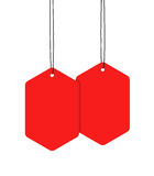 Red Hanging Tags Stock Photos