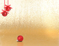 Red hanging xmas ornaments Stock Photo