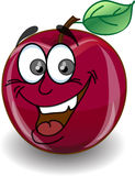 Red happy apple,vector Royalty Free Stock Image
