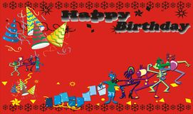 Red happy birthday Royalty Free Stock Photo