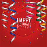 Red Happy Birthday Background Stock Photography