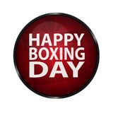 Red Happy Boxing Day Glossy Button. Vector Illustration Isolated On White Background vector illustration