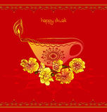 Red happy diwali background Stock Image