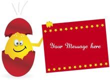 Red happy egg. Happy eggs, easter eggs season, promo, vector Stock Photos