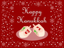 Red Happy Hanukkah Card royalty free stock images