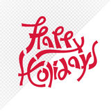 Red happy holidays text Stock Images