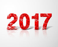 Red Happy New Year 2017 Royalty Free Stock Image