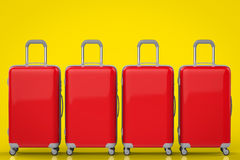 Red hard case luggages Stock Photos