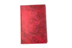 Red hard cover book, blank page isolate Royalty Free Stock Image