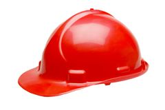 Red hard hat Royalty Free Stock Photos