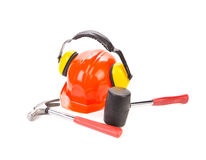 Red hard hat Stock Photos
