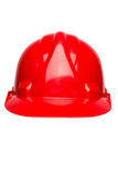 Red hard hat isolated on white Royalty Free Stock Photography