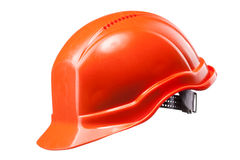 Red hard hat isolated on white Stock Images