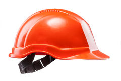 Red hard hat isolated on white Stock Photography