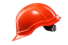 Red hard hat isolated on white Stock Image
