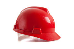 Red Hard Hat on white Royalty Free Stock Images