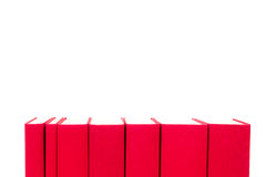 Red hardcover books isolated on white Stock Photo