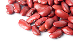 Red haricot beans isolated Royalty Free Stock Photography