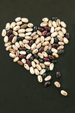 Heart shape from beans Royalty Free Stock Photos