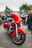 Red Harley Stock Image