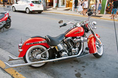 Red Harley Stock Photos