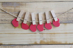 Red hart shape on Valentines day Stock Image