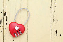 Red hart shaped padlock Royalty Free Stock Photos