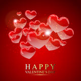 Red harts for Valentine's Royalty Free Stock Photo
