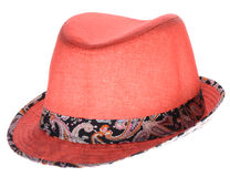 Red hat with a brim Royalty Free Stock Photography