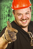 Red hat handyman Royalty Free Stock Photography