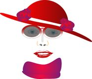 Red Hat Lady Royalty Free Stock Image