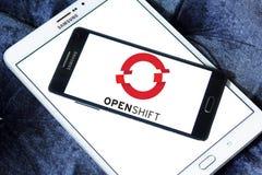 Red Hat OpenShift plattformlogo Arkivbild