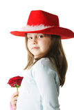 Red hat and rose Stock Photos