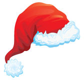 Red hat of Santa Claus Stock Image