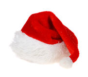Red Hat of Santa Claus on white background Royalty Free Stock Images