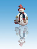 Red hat snowman Stock Images