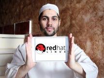 Red Hat-Softwareunternehmenlogo Stockfotos