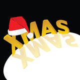 Red hat with xmas word  Stock Photo