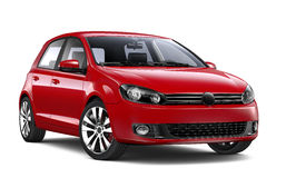 Red hatchback car Royalty Free Stock Photography